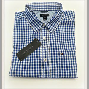 Brand New Boys TOMMY HILFIGER  Plaid Shirt Size 7